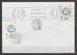 ANDORRA CORREO ESPAÑOL SOBRE UN TANTO CURIOSO MATASELLOS DEL MOMENTO  29.9.97 P.D. 30.IX.1997(S.2) - Lettres & Documents