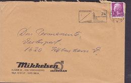 Denmark MIKKELSEN ISENKRAM Slogan 'Lysfestival' VORDINGBORG 1974 Cover Brief 90 Øre Margrethe II. (Cz. Slania) - Dänemark