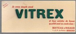 Buvard VITREX Verre Souple Armé BOITEAU ET RIGAUD, Bordeaux  (PPP10577) - Wash & Clean