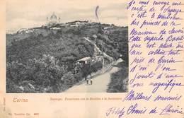 """1011 """"TORINO - SUPERGA - PANORAMA CON LA BASILICA E LA FUNICOLARE""""  ANIMATA. CART   SPED 1901 - Italie"""