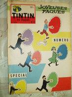 TINTIN BELGE  NO 12- 04/1959-COVER HERGE-RC DIVERS--PUB DINKY TOYS-MOTO NSU -VOIR - Tintin