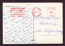 """LOURDES  (65) : """" HOTEL PROVIDENCE """"  1977 - Poststempel (Briefe)"""