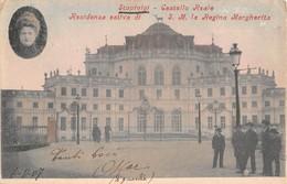 """1012 """"(TO) STUPINIGI - CASTELLO REALE - RESIDENZA ESTIVA DI S.M. LA REGINA MARGHERITA""""  ANIMATA. CART   SPED 1907 - Italie"""
