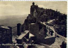 Repubblica S.marino - Seconda Torre - Formato Grande Viaggiata Mancante Di Affrancatura – E 12 - San Marino
