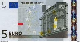 EURO MALTA 5 F E009 UNC TRICHET F0003 - EURO