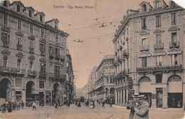 "1013 ""TORINO - VIA PIETRO MICCA""  ANIMATA, TRAMWAY., CAFFE' MILANO. CART   SPED - Italie"