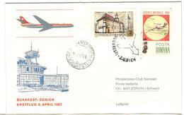 16666 - BUCAREST ZURICH - 1948-.... Républiques