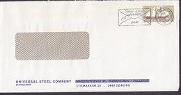 Denmark UNIVERSAL STEEL COMPANY Margrethevej HELLERUP (Erased) SØBORG Slogan 'Afsender' KØBENHAVN K. 1970 (Cz. Slania) - Dänemark