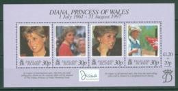 Falkland Is: 1998   Diana, Princess Of Wales Commemoration  M/S  MNH - Falkland Islands
