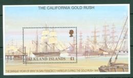 Falkland Is: 1999   California Gold Rush 150th Anniv   M/S    MNH - Falkland Islands