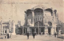 """1014 """"TORINO - ESPOSIZIONE INT. D'ARTE DECORATIVA MODERNA - VESTIBOLO D'ONORE"""" ANIMATA.  CART  SPED 1902 - Italie"""