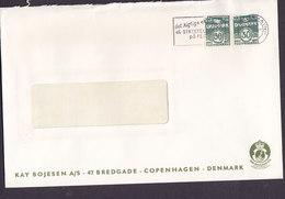 Denmark By Royal Appointment KAY BOJESEN Bredgade 47, Slogan 'Statstelegram' KØBENHAVN K. 1970 2x 30 Øre Wellenlinien - Danimarca
