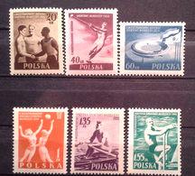 "007 - POLONIA - 1955 - Serie Cmpl International Youth Games   Scott 699/705"" Nuovi MNH - 1944-.... Repubblica"