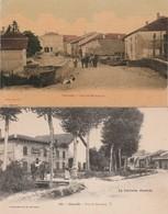 2 CPA:DIARVILLE (54) BOULANGERIE ? PONT DU BEAULONG,RUE DE MIRECOURT..ÉCRITES - Francia