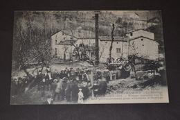 Carte Postale 1911 St Chamond Le Barrage Pompe Provisoire Installée Sur Le Gier Pour Alimenter Le Barrage Animée - Saint Chamond