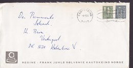 Norway REGINE - FRANK JUHLS SØLVSMIE, KAUTOKEINO 1973 Cover Brief Denmark - Norwegen