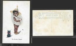 "The Little Beggar, Kitten And Little Black Girl, ""Little Darkies"" Series, Artist "" TR"" Unused - Comics"