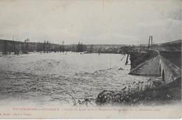 VILLEFRANCHE DE ROUERGUE  :  Plaine Du Radel Et De La Madeleine Durant L'inondation De Décembre 1906 - Villefranche De Rouergue