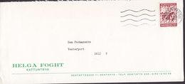 Denmark HELGA FOGHT Kattuntryk Gentoftegade 11, GENTOFTE TMS Cds. KØBENHAVN 1972 Cover Brief World Refugee (Cz. Slania) - Dänemark
