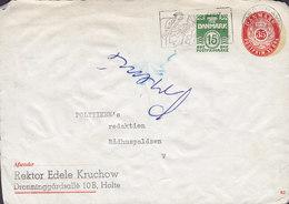 Denmark Postal Stationery Ganzsache (82) (FRONT Only !!) 15 + 35 Øre Dronninggårdsallé HOLTE Slogan KØBENHAVN 1966 - Ganzsachen