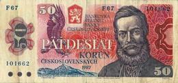 Banconota Da 50  KORUM  CECOSLOVACCHIA  - ANNO / 1987. - Cecoslovacchia