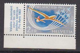 Switzerland 1963 Pro Aero 1v (corner) ** Mnh (42428B) - Neufs