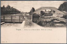 Troyes , Canal De La Haute Seine , Pont De La Folie , Animée - Troyes