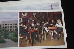 JEU - ECHECS - CHESS - ECHECS - KRASNOTURIINSK CITY -  14 Postcards Lot. OLD USSR PC 1970s - Echecs