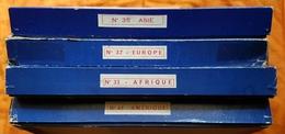 PUZZLE - LOT DE 4 - EUROPE - ASIE - AFRIQUE - AMERIQUE - JEUX ARTISTIQUES LAROUSSE - ANNEE 50 - Cartes