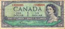 Banconota Da  1  DOLLARO  Del  C A N A D A - Anno  Ottawa 1954. - Canada