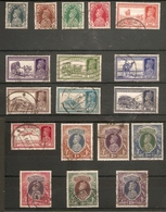INDIA 1937 - 1940 SET SG 247/264 FINE USED Cat £140 - India (...-1947)