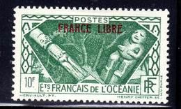 OCEANIE - N°148 *  (1941) FRANCE LIBRE - 10FR VERT - Nuevos