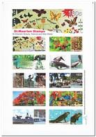 Sint Maarten 2015, Postfris MNH, Birds, Butterflies, Animals, Trees, Plants - Ongebruikt