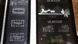 2 Plaques 24 X 18 Cm Env. MOULIN MILL MOLINO PLAN VAUCOULEURS /FREE SHIP. R - Diapositivas De Vidrio