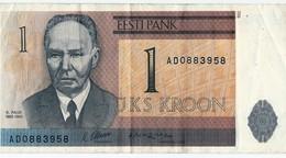 Banconota Da   1  KROONI  ESTONIA - Anno 1992. - Estonia
