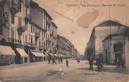 "1026  ""TORINO - VIA VILLAFRANCA - BARRIERA SAN PAOLO""  ANIMATA, MILITARI.  CART  SPED - Italie"