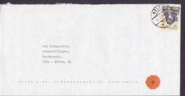 Denmark JETTE VIBY Rudersdalsvej 25, Brotype IId HOLTE 1971 Cover Brief Vereinigung Nordschleswig (Cz. Slania) - Dänemark