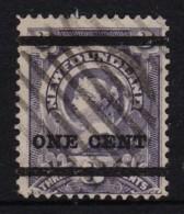 Newfoundland 1897 Victoria 1c OP On 3c Used Sc 75, SG 80 - 1865-1902