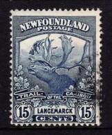 Newfoundland 1919 Caribou 15c Used Sc 124, SG 139 - 1908-1947
