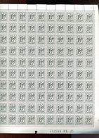 Belgie 1969 1518 1.50fr Heraldieke Leeuw Wit Papier (1977) Volledig Vel Drukdatum 1977 - Feuilles Complètes