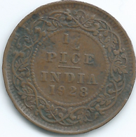 India - George V - 1928 - ½ Pice - KM510 - Inde