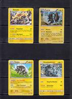 POKEMON  Lot De 4 Cartes  Série  PV   100 Et 140  Niveau 1 Et 2    En Excellent état - Pokemon