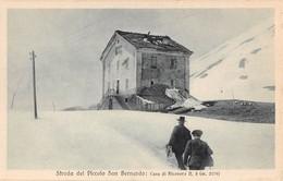 """1030  """"STRADE DEL PICCOLO SAN BERNARDO - CASA DI RICOVERO NR. 3 - M 2179"""" ANIMATA, FOTOGRAFO BROGGI.  CART NON  SPED - Italie"""