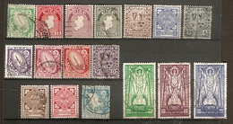 IRELAND 1940 - 1968 SET SG 111/125ba FINE USED Cat £30 - 1937-1949 Éire