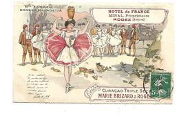 12 Rodez Hotel De France Mr Miral Propriétaire   Mlle Zambelli Dans La Maladetta 1908 - Rodez