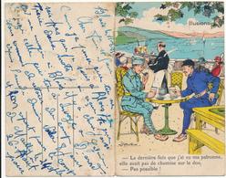 DEAUVILLE - Carte Double Dépliante Illustrée Par Gaillard - Deauville