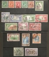 JAMAICA 1938 - 1952 SET SG 121/133a  FINE USED Cat £50 - Jamaica (...-1961)