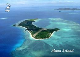 Fiji Islands Mana Island Aerial View New Postcard Fidschi AK - Fiji