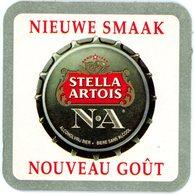 Belgium. Stella Artois. N A. Alcoholvrij Bier. Bière Sans Alcool. Nieuwe Smaak. Nouveau Goût. - Sous-bocks