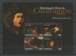 Liberia 2010 Caravaggio  Sheet  Y.T. 4793/4796 ** - Liberia